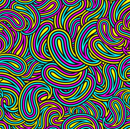 Colorful seamless pattern with abstract shapes. Bright illustration.