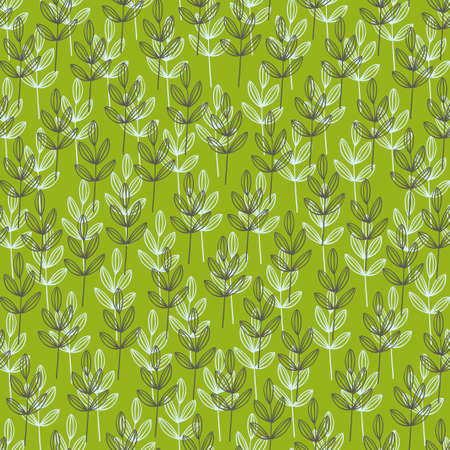 wallpaper doodle: Simple wallpaper with doodle grass. Vector background. Illustration
