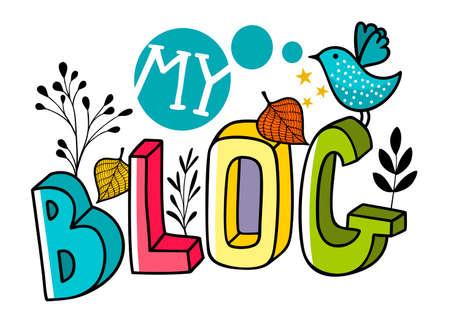 Head image for blog in internet. Illustration
