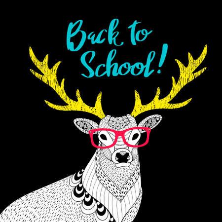 Teacher deer print.