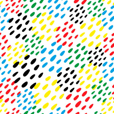 Colorful dubs seamless pattern. Simple vector background.