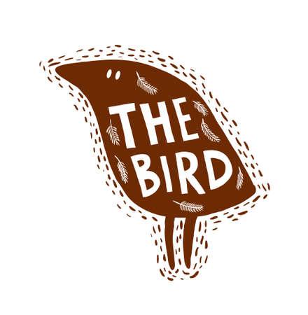 Hand drawn bird.