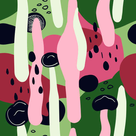 Abstract wallpaper. Seamless pattern for spring background. Ilustrace