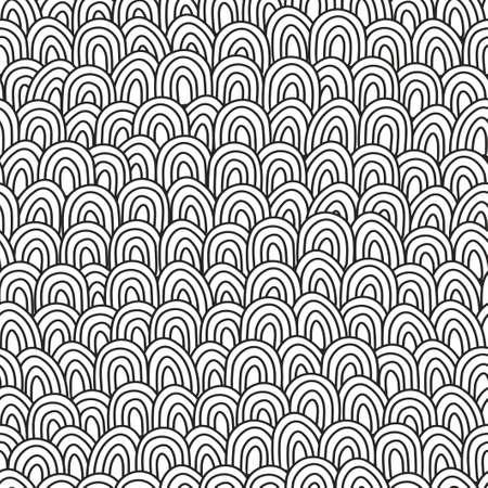 Schwarzweiss-Hand gezeichnetes Muster für die Färbung. Standard-Bild - 83281433