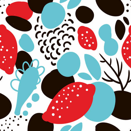 Seamless pattern in abstract style. Vector creative background.