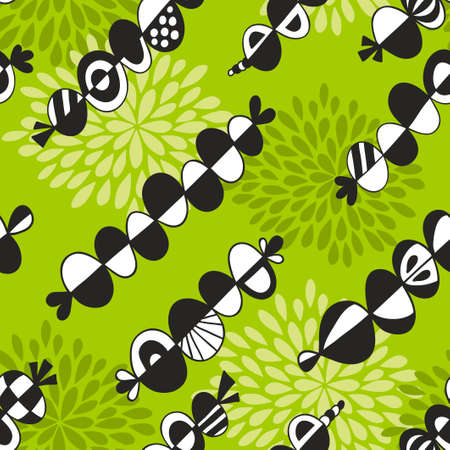 Seamless pattern with abstract elements.