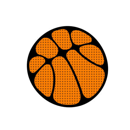 Colorful ball for outdoor basketbal game. Vector art.