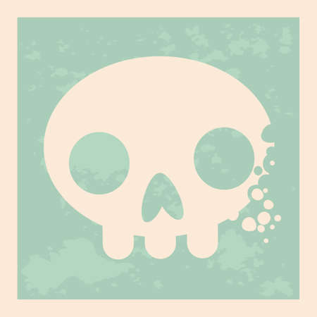 Vintage design of a skull in vector. Vector art. Illustration