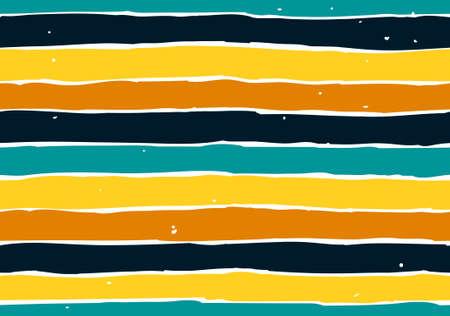 Endless pattern with colorful stripes. Vector art. Ilustração