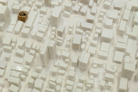 preliminary: site surrounding model for architectural background Stock Photo