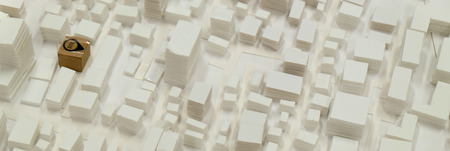 surrounding: site surrounding model for architectural background Stock Photo