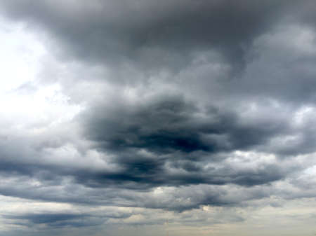 black: black cloud Stock Photo