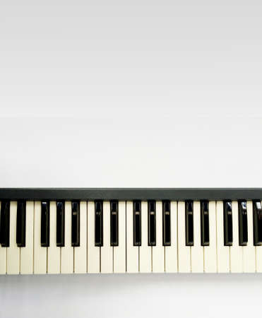 electronic piano: Electronic Piano Keyboard on white background