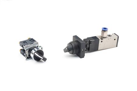 pneumatic: Pneumatic valves series Stock Photo