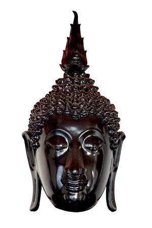 cabeza de buda: Negro Cabeza Estatua de Buda