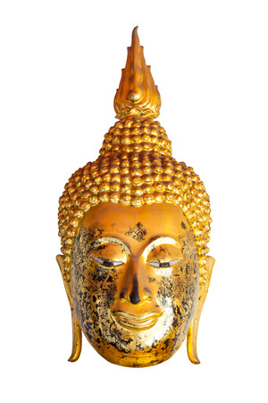 cabeza de buda: Estatua de oro Cabeza de Buda