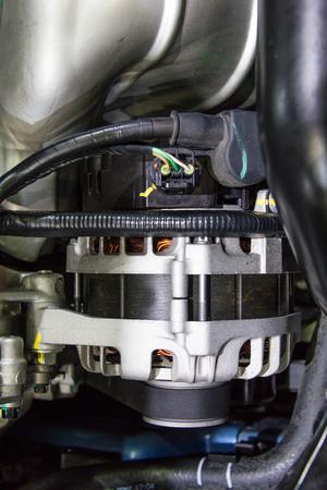alternator: Alternator in Car engine