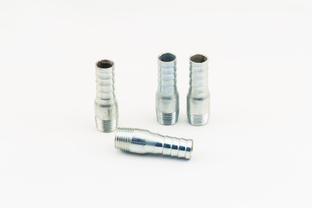 connector: Hose Nipple connector with pipe Stock Photo