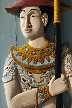 solider: Royal guard statue Stock Photo