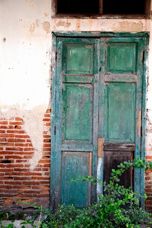 Classic old door in Thailand, the historical