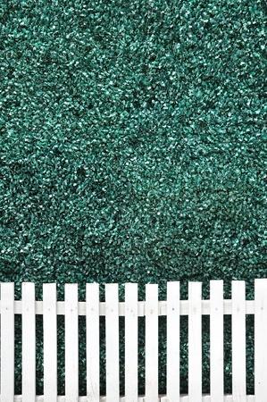 White fence texture background Stock Photo - 21412062