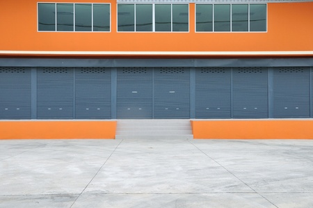Exterior of new modern warehouse building Stock Photo - 21533085