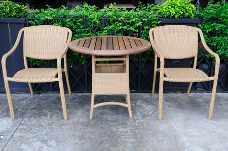 Out door rattans tables and chairs set