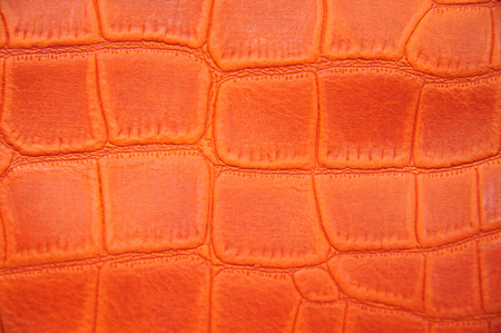 Orange lather skin crocodile printed