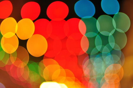 Colorful bokeh for New Year and all celebration background  photo