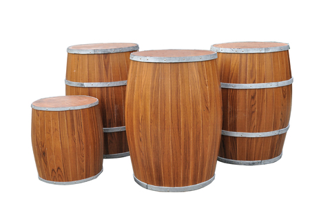 Many Beers Barrel-Shaped isolated with clipping path  photo