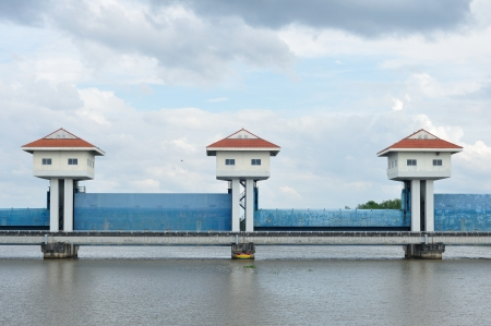 Landscape view, barrage towers in Thailand  photo