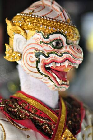 BANGKOK DEC 04  Thai puppet HANUMAN is a character of Thai literature RAMAYANA on December 04, 2013 at Baan-si-la-pin Bangkok, Thailand