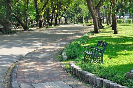 Walk way in garden, relaxing and freshy Standard-Bild