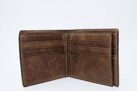 Genuine cowhide men wallet, empty  photo