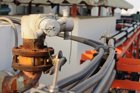 Old fireplugs with electric pipe line  photo