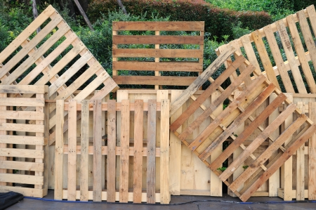 Home decoration by wooden pallets