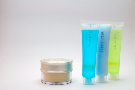 Shower and cosmetic set isolated