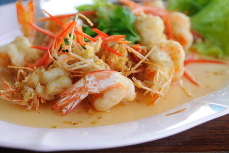 Shrimps Flavour with sweet Sauce  photo