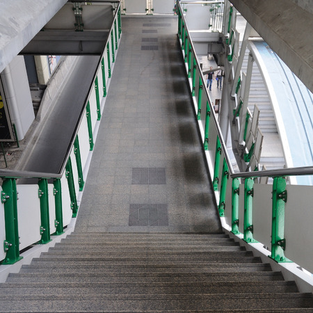 flyover: Flyover stairs and walk way Stock Photo