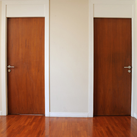 Classic design double wooden doors photo