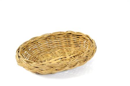 Single nice rattan-basket, Thailand. photo