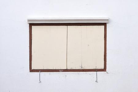 Classic wooden windows closed. photo