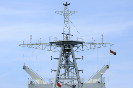 Mainmast of modern warship, Thailand. photo