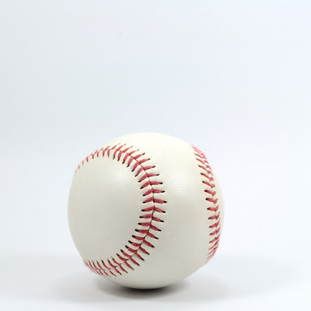 Single baseball on white background. photo
