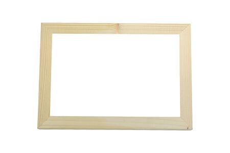 peg board: Wooden frame on white background