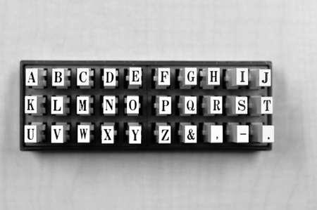 alphabet letters block stamp photo