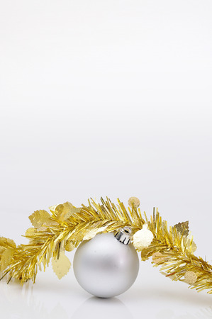 chirstmas: Chirstmas s ball with golden ribbon for celebration and festival.