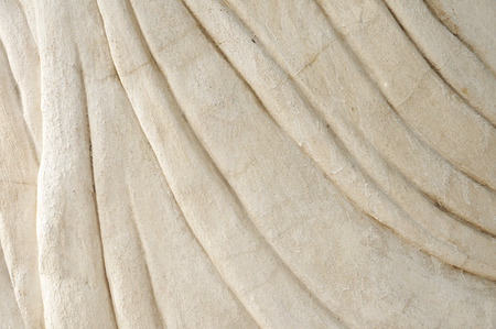 lining: Curve lining on cement surface. Stock Photo