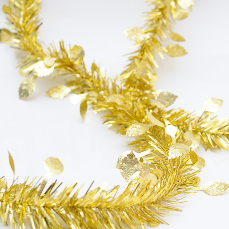 chirstmas: Chirstmas  golden ribbon for celebration and festival.