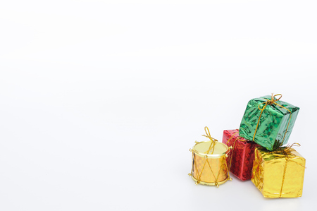multi color: Multi color Christmas boxes for web background.